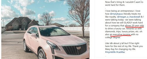 """Executive Income"" While Driving a Cadillac"