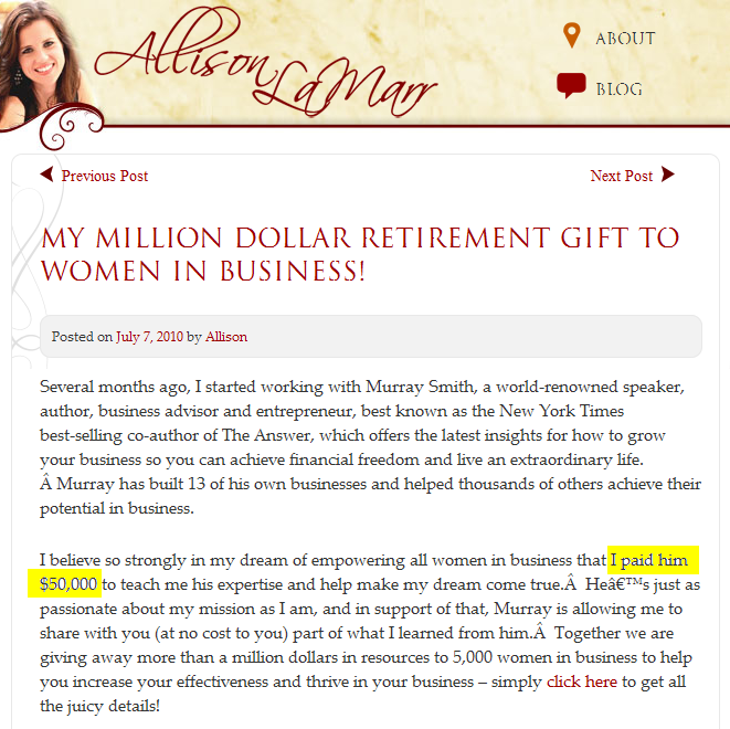 Allison LaMarr: Fastest to Million, Fastest to Broke?