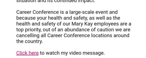 Career Conference is Canceled