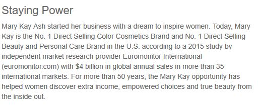 Mary Kay Lies: Best Selling Brand