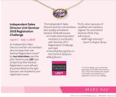 Mary Kay Seminar Attendance Challenge